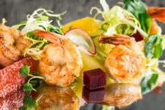 Citrus shrimp salad Royalty Free Stock Images