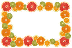Citrus slice frame. Frame made of miscellaneous citrus slices. See more citrus slice images in this series in my portfolio royalty free stock photos