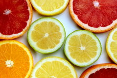 Citrus slices. Banner- close up image Royalty Free Stock Photography