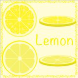 Citrus slices. Citrus slices  lemon realistic illustration Stock Photo