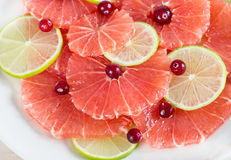 Citrus slices - grapefruit and lime Stock Image