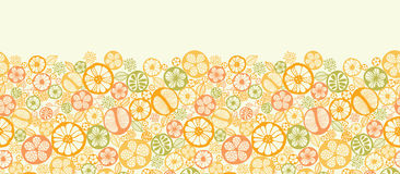 Citrus slices horizontal seamless pattern vector illustration
