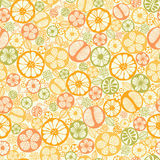 Citrus slices seamless pattern background Stock Photo