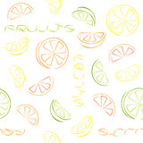 Citrus slices seamless pattern. Royalty Free Stock Photo