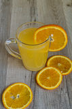 Citrus soluble fizzy vitamins Royalty Free Stock Image