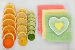 Citrus Spa Ingredients Stock Images