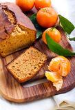 Citrus spice cake. On board Stock Photos