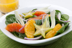 Citrus Spinach Salad Stock Photography