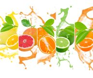Citrus splash Stock Images