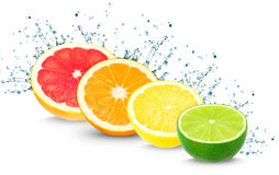 Citrus splash Royalty Free Stock Photos