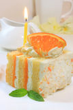 Citrus sponge cake Royalty Free Stock Image