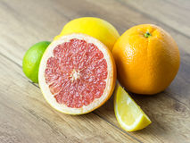 Citrus Summer Fruits. Close Up Royalty Free Stock Photos