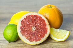 Citrus Summer Fruits. Close Up Royalty Free Stock Image