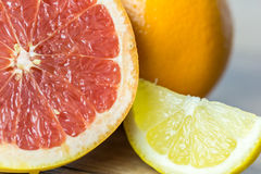 Citrus Summer Fruits. Close Up Stock Image