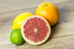 Citrus Summer Fruits. Close Up Royalty Free Stock Images
