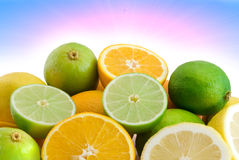 Citrus and sun Royalty Free Stock Images