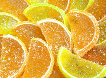 Citrus sweets. Close up of the citrus slices Royalty Free Stock Images