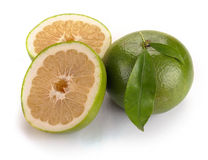 Citrus sweety fruit with leaves Royalty Free Stock Photography