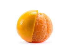 Citrus tangerine orange fruit isolated on white background Royalty Free Stock Photography