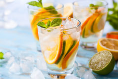 Citrus water with mint Royalty Free Stock Photography