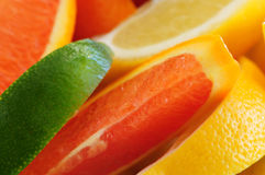 Citrus wedges Royalty Free Stock Images