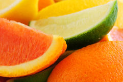 Citrus wedges Stock Photos