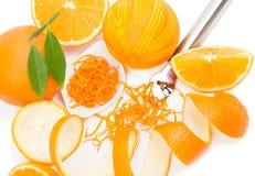 Citrus zester and orange fruits Royalty Free Stock Image