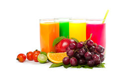 citrusa nya fruktsaftar Arkivfoto