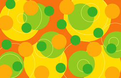 citrusa retro cirklar Royaltyfri Foto