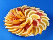 citrusa skivor Royaltyfri Fotografi