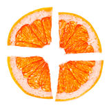citrusa skivor Arkivbilder
