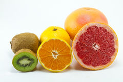 Citruses. On a white background Royalty Free Stock Photos