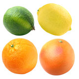 Citruses. Lime, lemon, orange and grapefruit, are on a white background Royalty Free Stock Photography