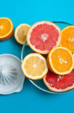 Citruses on the tables Royalty Free Stock Photos