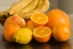 Citrusfruktbakgrund Arkivfoton