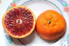 Citrusfrukter av Sicilien - Italien Arkivfoto