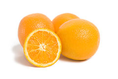 citrusfrukter isolerade orange white Arkivbild