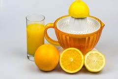 Citrusvrucht juicer op een witte achtergrond Stock Afbeelding