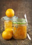 Citrusvruchten eigengemaakte jam. Stock Foto's