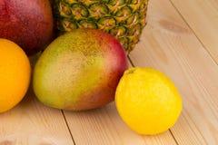 Citrusvruchten en bananen Royalty-vrije Stock Foto's