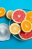 Citrusvruchten op de lijsten Royalty-vrije Stock Foto's