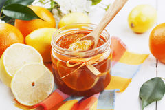 Citrusvruchtenjam Stock Foto's