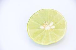 Citrusvruchtenkalk op witte achtergrond Royalty-vrije Stock Foto