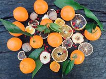 Citrusvruchtenmengeling Stock Afbeeldingen