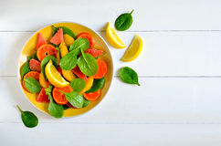 Citrusvruchtensalade royalty-vrije stock afbeelding