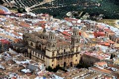 Citry Jaen en kathedraal Andalusia Spanje Stock Foto