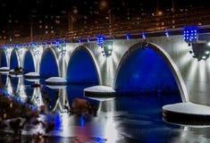 Città Ä?eljabinsk di notte Fotografie Stock Libere da Diritti