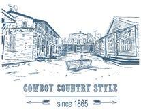 Città abbandonata del cowboy Fotografie Stock Libere da Diritti