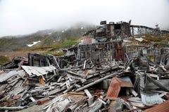 Città abbandonata della miniera Fotografia Stock