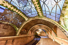 Città abbandonata Hall Station - New York fotografia stock libera da diritti